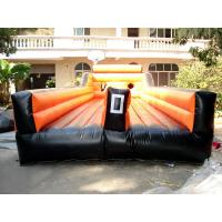Quality Inflatable Amusement Park With Orange Two Lanes For Children And Adult for sale