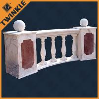 Quality Balcony balusters outdoor grey natural marble balustrade carved with sand stone for sale