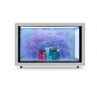 Quality 55in 400nits Transparent LCD Advertising Player 200W for sale