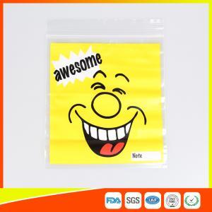 Quality Custom resealable plastic bags , Self-Adhesive Header Plastic Ziplock Bags for sale