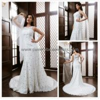 Quality Mermaid & Trumpet High Neck Straps Beading Lace Bridal Dress XG004 for sale
