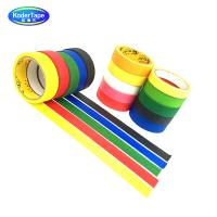 Fluorescent Colour Paper Masking Tape Synthetic Rubber Adhesive ISO Certification for sale