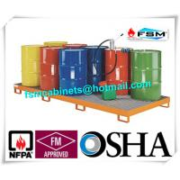 Quality Galvanized Steel Pallet Spill Containment Drum Platform For Multi Drums Storing for sale