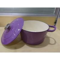 China Hot Sale Cheap Price  Energy Saving Purple Enameled Cast Iron Cookwares set With flash silver on sale
