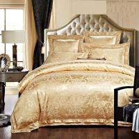Quality Rose Golden 400T Jacquard Bedding Set /  Non - Pilling Hotel Collection Bed Linen for sale