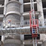 Quality Single Tower Mast Climbing Work Platform , Building Construction Self Climbing Platform for sale