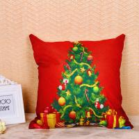 Quality Festival Decoration Pillow Cushion Covers Square Shape With Printed Christmas Tree for sale