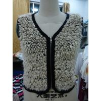 Quality Faux Fur Black Binding Fashionable Winter Coats Sleeveless Zip Up Vest For Lady for sale