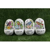 Quality Multi Color Cement Garden Statues With Words '  Believe '  ' Dream '  20.2 X 13 X 7.8 Cm for sale
