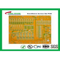 Quality Mortherboard Quick Turn Printed Circuit Boards  with Yellow Solder Mask FR4 1.6MM for sale