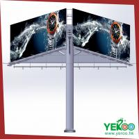 Quality three side outdoor billboard steel column advertising for sale