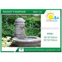 Quality Stone Faucet Cast Stone Garden Fountains Granite Sink For Backyard Lightweight for sale