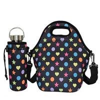 Quality High level outdoor picnic insulated neoprene lunch tote with water bottle cover.Size:30cm*30cm*16cm for sale