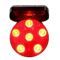 China road safety temporary rotary forklift magnetic car amber car top tubi8 tower solar traffic strobe road flash led warning on sale