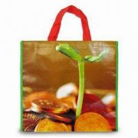 Quality Nonwoven PP Shopping Bag with OPP Coating, Measuring 38 x 42 x 10cm for sale