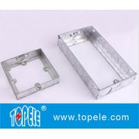 Quality BS GI Electrical One Gang /Two Gang Switch And Socket Box/EXTENSIONS BOX, Electrical Boxes And Covers for sale