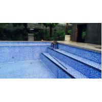 China Sheet size: 300x300mm thickness: 4mm glass mosaic for swimming pool tile on sale