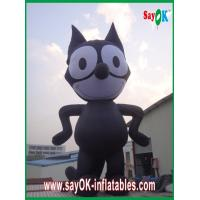 Quality Inflatable Black Cat / Strong Oxford Cloth Inflatable Animal Cartoon Height 8m for sale