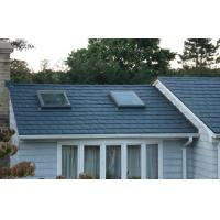 China Zinc black Stone Coated Lightweight Metal Roof Tiles , Exterior roof tiles on sale