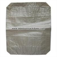 Quality Beige Laminated PP Valve Sacks for Cement / Durable Light Weight Woven Valve Bags for sale