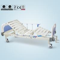 Quality Double Cranks Manual Hospital Bed Adjustable With ISO / CE / FDA Certificate for sale
