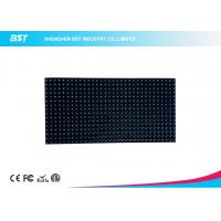 Quality 32 X  16 Dots P10  Blue color LED Display Module  outdoor adveritising board DC5V for sale