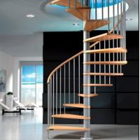 Buy cheap Modern Design spiral staircase kits for small space house helical stair from wholesalers