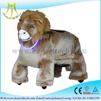 Quality Hansel plush animals motorized plush lion ride on toy for sale