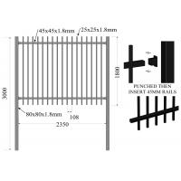 Buy cheap Spear Top Metal Fencing | Steel Picket | China Metal Fence Supplier 1800mm from wholesalers