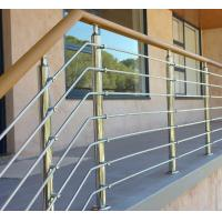 Quality Exterior prefab railing stainless steel inox rod railing design for porch for sale
