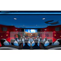 Quality Wonderful Customize 5D Cinema System With Three - Seats Special Motion Platform for sale