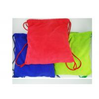 Quality Multi purpose Microfiber Drawstring Beach Towel Bag , Colorful Folding Beach Towel Bag for sale