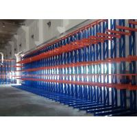 Quality High Density Cantilever Steel Rack , Selective Pallet Rack Storage Systems For Long Material for sale