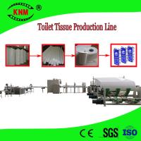 Quality Toilet paper production line machine to make toilet paper from jumbo roll for sale