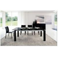 Quality Featuring modernity 3 chairs tempered glass topped dining tables for sale