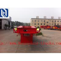 Quality SHMC 3 AXLES EQUIPMENT LOW BED TRAILER King pin 3.5 inch Q235 MATERIAL With Radial Tires for sale