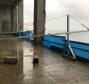 China Galvanized steel walk through stirrup modular temporary suspended working platform ZLP630 Urkraine cradle on sale