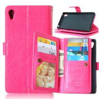 Quality Sony Xperia Z3 Z4 C5 Z5 Premium M4 Aqua Wallet Case Cover Bags Pouch 9 Cards Slot Holder for sale