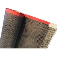 Quality 4*4 mm Teflon Coated Fiberglass Mesh Conveyor Belt For Cardboard Division For Drying for sale