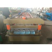 Quality Cladding Profile IBR Metal Roofing Sheet Roll Forming Machine PLC Control for sale