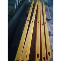Quality 8 feet long uhmwpe plastic machined parts plastic strips with countersink holes for sale