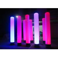 Quality Colorful Inflatable Column Built In Blower With Led Light / Repair Kit for sale