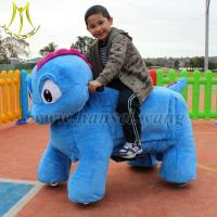 Quality Hansel mall walking animal rides kids motorized plush riding animals for sale