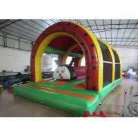 Quality Inflatable Fort For Children'S Play , Fun City / Toddler Bouncy Castle 6 X 4m for sale