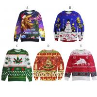 Quality 3D Printing Plus Size 4xl Christmas Jumper , Male Christmas Jumpers Pullover for sale