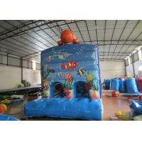 Quality Kindergarten Baby Clownfish Inflatable Assault Course , Waterproof Bouncy Obstacle Course for sale