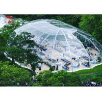 Quality Aluminum Frame Transparent Marquee Tent Outside With Unique Decorations for sale