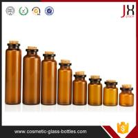 China Clear Amber Glass Flip Off Cap Glass Vials With Cork 10ml 15ml 20ml 30ml on sale