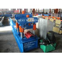 Buy Cold Roll Color Steel Metal Roof Ridge Cap Forming Machine hydraulic Cutting at wholesale prices