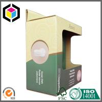 Quality Open Window Paper Corrugated Cardboard Box Self Hanging Tab with Custom Color Print for sale